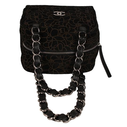 Chanel Camellia Suede Leather Shoulder Bag