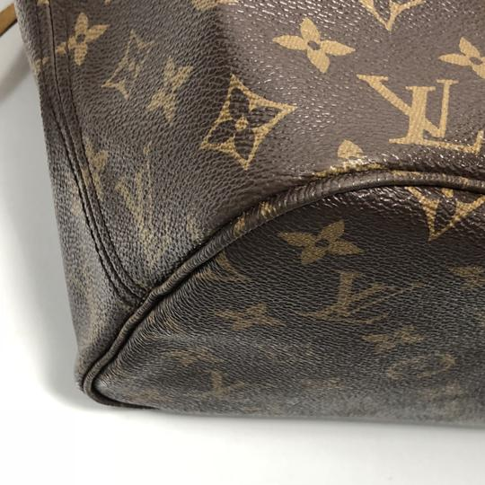 Louis Vuitton Lv Neverfull Neverfull Mm Monogram Shoulder Tote in Brown