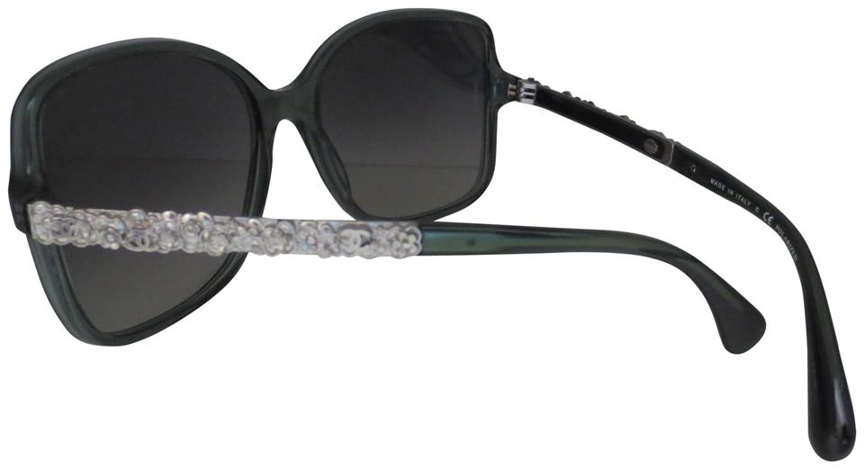 4a72a791d3f33 Chanel Charming Light Green with Silver Blooming Bijou Polarized ...