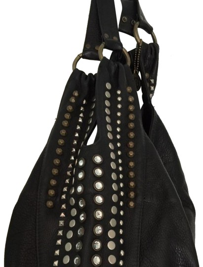 Preload https://img-static.tradesy.com/item/24157539/leatherock-soft-black-with-metal-and-crystal-studs-leather-hobo-bag-0-2-540-540.jpg