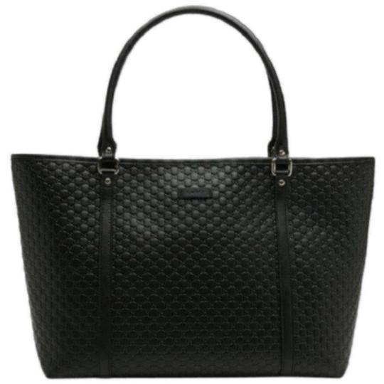 Preload https://img-static.tradesy.com/item/24157552/gucci-gg-black-leather-tote-0-0-540-540.jpg
