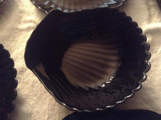 Neiman Marcus Black salad dishes and dressing dip bowl
