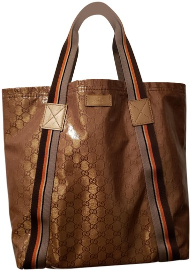 Preload https://img-static.tradesy.com/item/24157582/gucci-beigeebony-gg-canvas-vintage-web-large-brown-tote-0-1-540-540.jpg