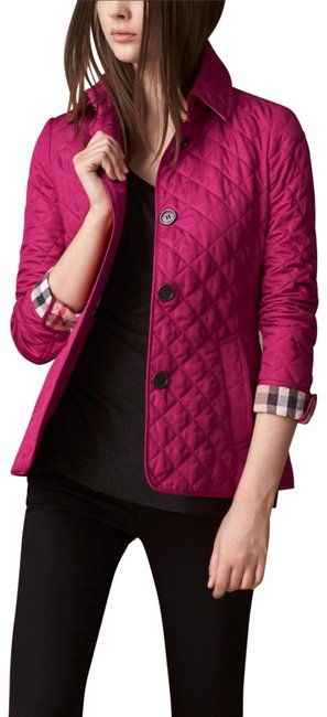 Preload https://img-static.tradesy.com/item/24157594/burberry-brit-pink-deep-fuchsia-copford-diamond-quilted-check-coat-jacket-size-12-l-0-1-650-650.jpg
