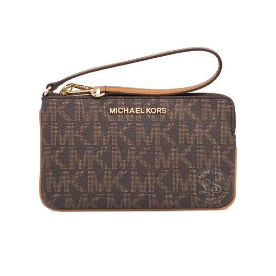 Preload https://img-static.tradesy.com/item/24157653/michael-kors-jet-set-travel-large-brownacorn-coated-canvas-wristlet-0-0-540-540.jpg