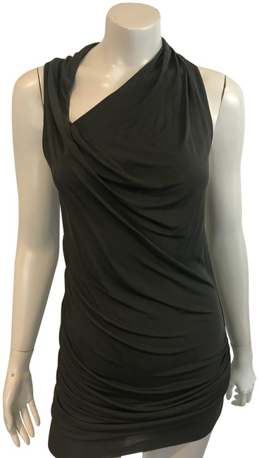 Helmut Lang Draped Fitted Lbd Dress