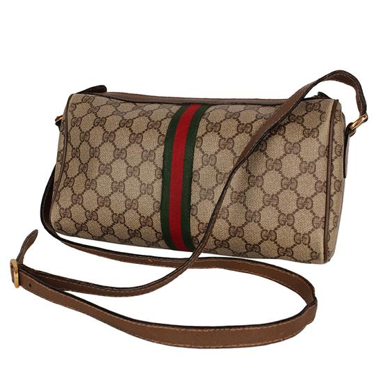 Gucci Vintage Monogram Canvas Webcross Cross Body Bag