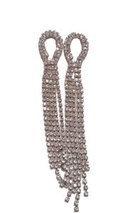 Teekay Silver Fashion Diamond Rhinestone Women's Robe Earrings