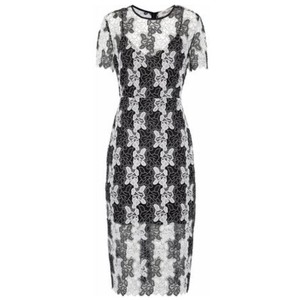 Diane von Furstenberg White Lace Dvf Two-tone Dress