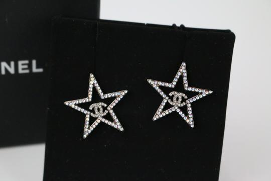 Chanel Chanel 17K Strass System Star Earrings