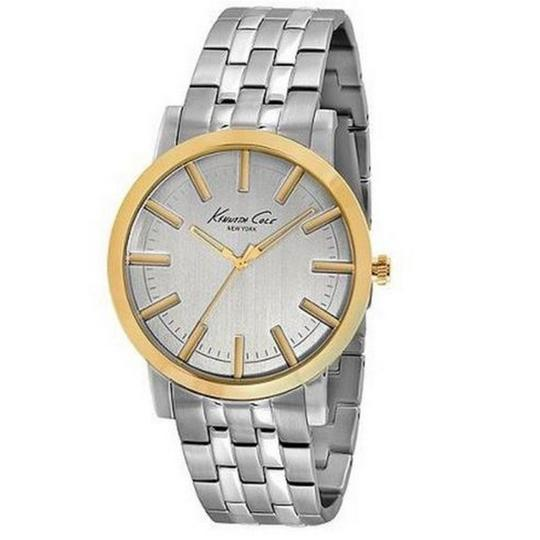 Kenneth Cole KC9335 Men's Silver Steel Bracelet With White Analog Dial Watch
