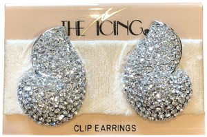 Icing The Icing Silver NS Clip Earrings