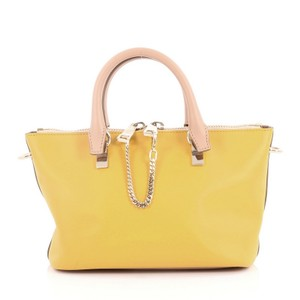Chloé Leather Satchel in tan and yellow
