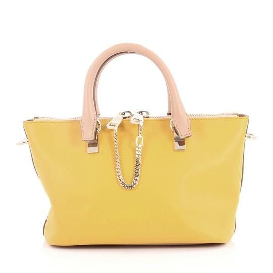 Preload https://img-static.tradesy.com/item/24157861/chloe-baylee-bicolor-mini-tan-and-yellow-leather-satchel-0-0-540-540.jpg