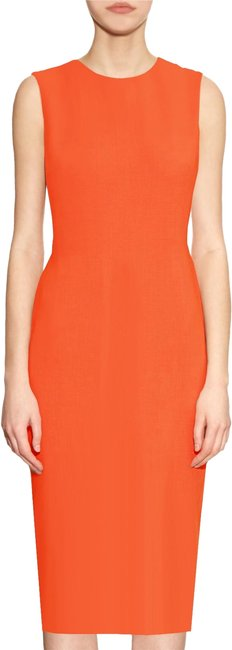 Preload https://img-static.tradesy.com/item/24157884/orange-basic-sheath-by-mid-length-workoffice-dress-size-6-s-0-1-650-650.jpg