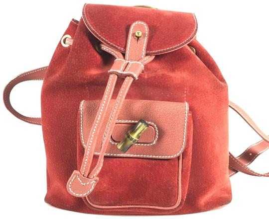 Preload https://img-static.tradesy.com/item/24157893/gucci-bamboo-handle-red-suede-leather-backpack-0-1-540-540.jpg