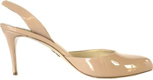 Paul Andrew Patent Leather Slingback Slingback Nude Pumps