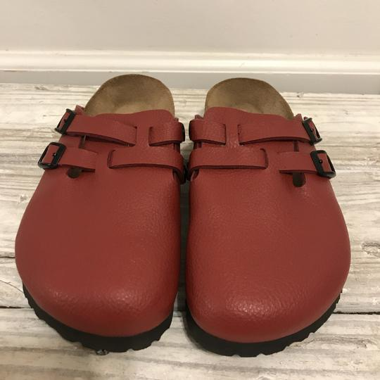 Birkenstock Birkis Leather Red Mules