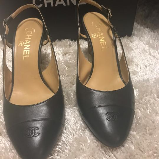 Black Chanel Slingback Size US 8 Regular (M,B) Black Pumps