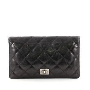 17a57449c4c4 Chanel 2.55 Reissue Bifold Wallet Quilted Aged Calfskin Long Black ...