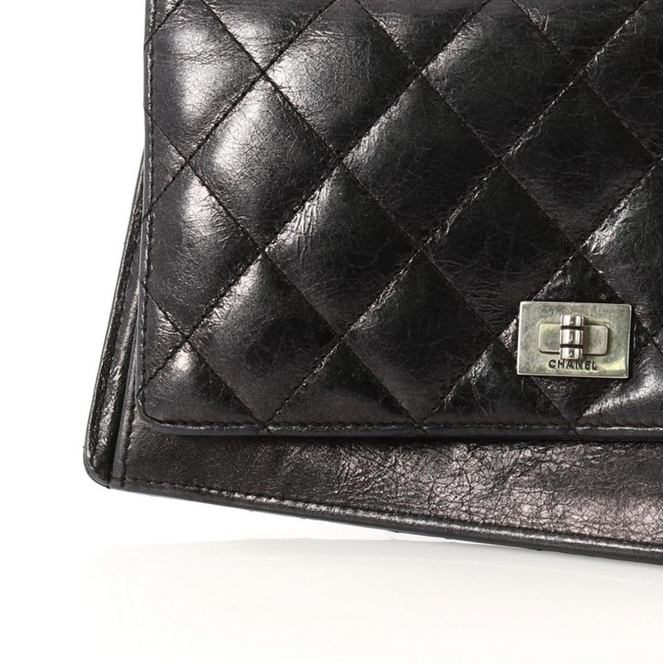f8f452397e2828 Chanel 2.55 Reissue Bifold Wallet Quilted Aged Calfskin Long Black ...