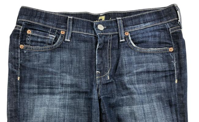 7 For All Mankind Dojo Low Rise Stretch Wide Flare Leg Jeans-Medium Wash