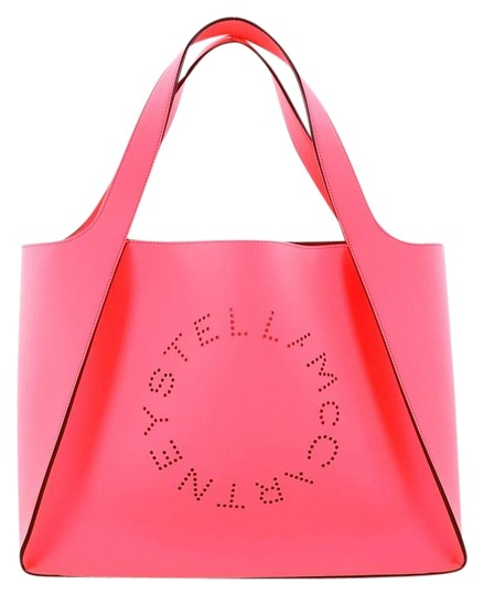 Preload https://img-static.tradesy.com/item/24157977/stella-mccartney-alter-east-west-neon-pink-faux-leather-tote-0-1-540-540.jpg