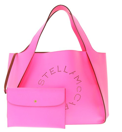 Preload https://img-static.tradesy.com/item/24157977/stella-mccartney-alter-east-west-neon-pink-faux-leather-tote-0-2-540-540.jpg