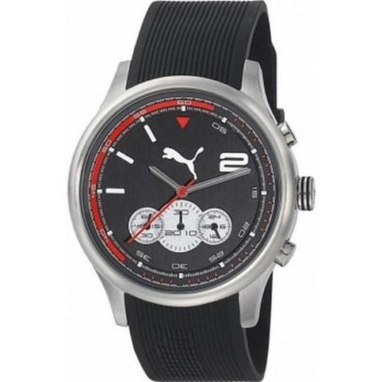 Puma PU102741002 Men's Black Rubber Band With Black Analog Dial Watch