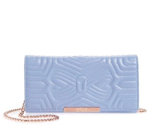 Ted Baker Matelasse Stitching Quilted Leather Magnetic Snap Designer Cross Body Bag