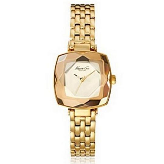 Kenneth Cole KC0012 Women's Gold Steel Bracelet With White Analog Dial Watch