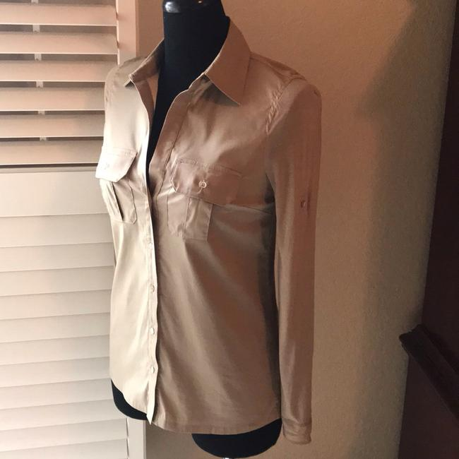 BCBGMAXAZRIA Button Down Shirt Khaki