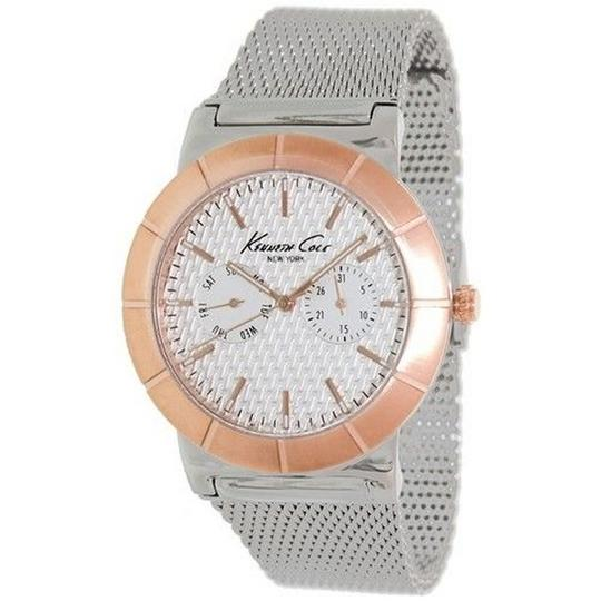 Kenneth Cole KC9228 Men's Silver Steel Bracelet With White Analog Dial Watch