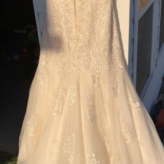Champagne Bling Gown Sexy Wedding Dress Size 12 (L)