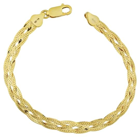 Preload https://img-static.tradesy.com/item/24158100/-18k-yellow-gold-4-layer-herringbone-bracelet-0-1-540-540.jpg