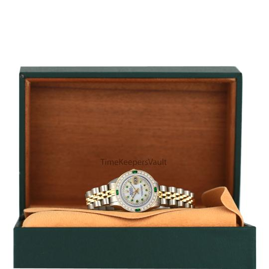 Rolex Rolex Lady Datejust Two-tone 26mm Emerald Dial Diamond Bezel Watch