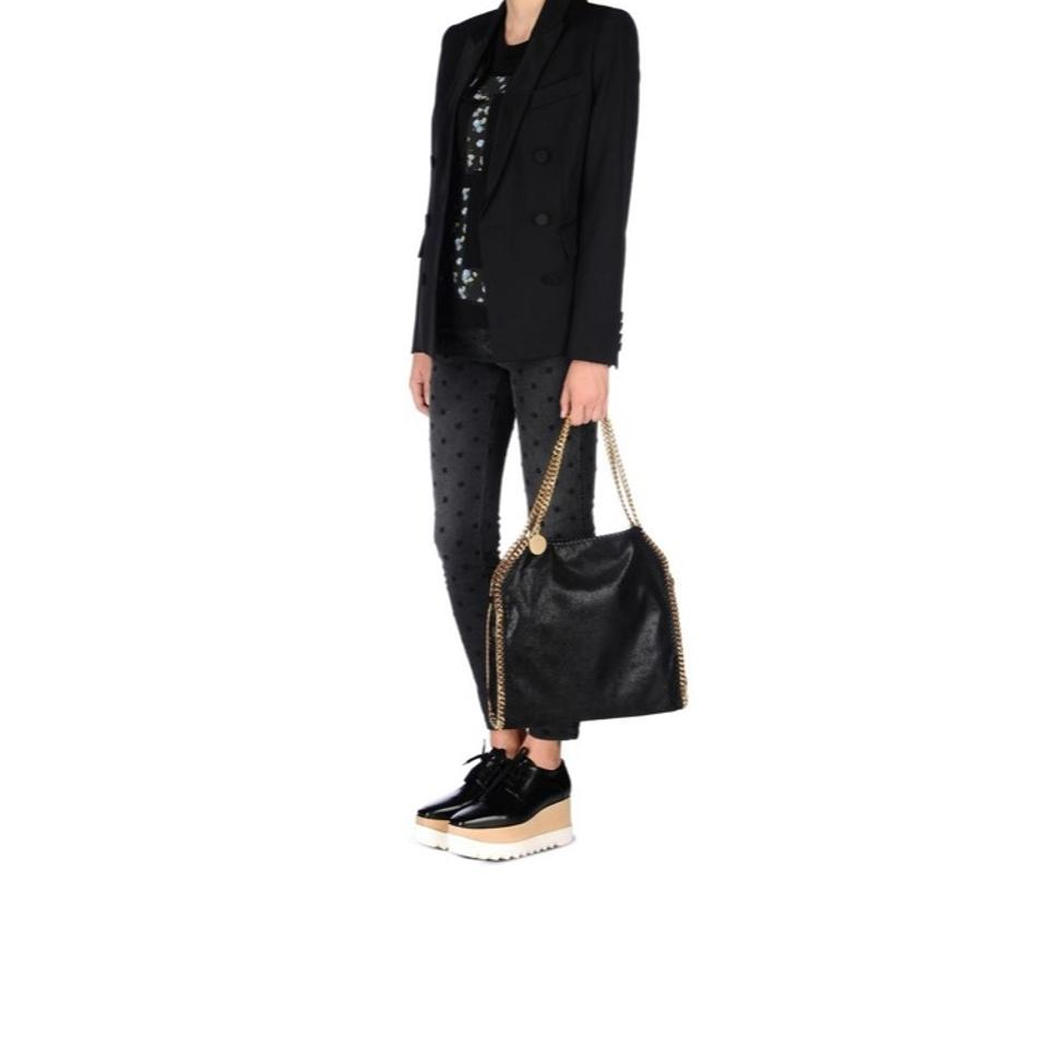 8738927fc2ca Stella McCartney Falabella Shaggy Deer Small Tote Black with Gold ...