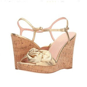 eec24b910923 Gold Kate Spade Wedges - Up to 90% off at Tradesy