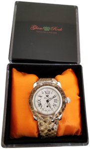Glam Rock Glam Rock Miami 46mm Silver Python Embossed Detail Womens Watch