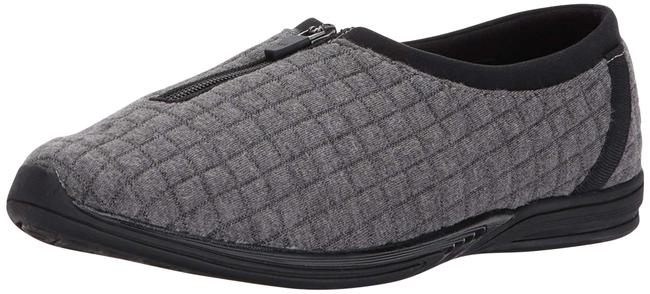 Item - Grey Combo Traveler Memory Foam Flats Size US 8 Wide (C, D)