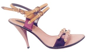 Louis Vuitton Rare Multi color: lilac heel, gold and plum straps Sandals
