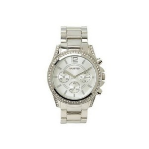 Unlisted by Kenneth Cole UL4020KCP Women's Silver Steel Bracelet With Silver Analog Dial Watch