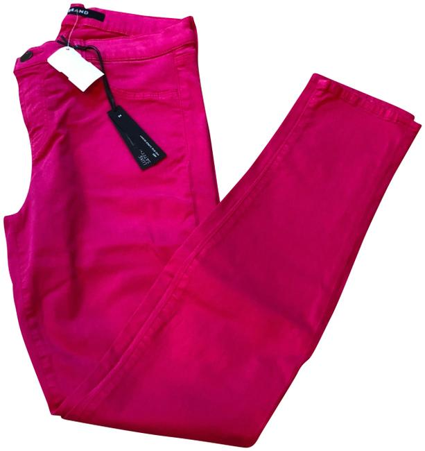 Item - Wildflower Pink Medium Wash Luxe Sateen Mid-rise Super Skinny Jeans Size 29 (6, M)