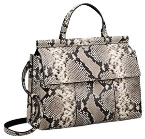 Tory Burch Leather Crossbody Tote in Snakeskin