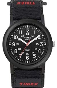 Timex T2P322 Men's Black Fabric Band With Black Analog Dial Watch NWT