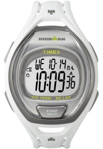 Timex TW5K96200 Ironman Men's White Rubber Band With Digital Dial Watch