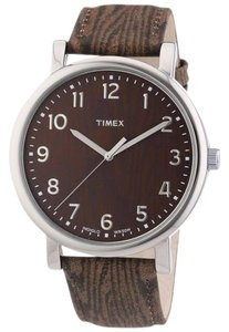 Timex T2P221 Men's Brown Leather Band With Brown Analog Dial Watch