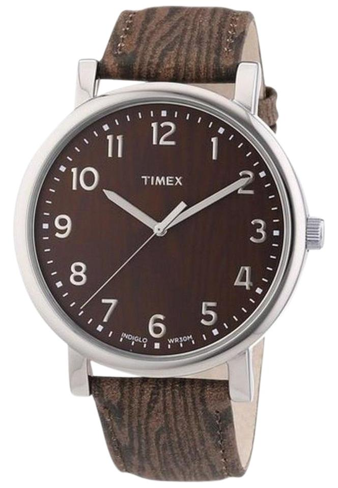 7378c2bbb329 Timex Brown T2p221 Men s Leather Band with Analog Dial Watch - Tradesy