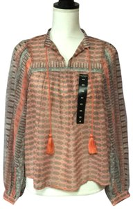 Lucky Brand Top Orange/Gray
