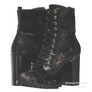REPORT Black Multi Floral Boots